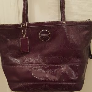 Coach Classic Red leathed tote handbag shoulder